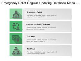 Emergency Relief Regular Updating Database Manage Financial Resources
