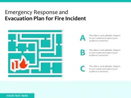 Emergency Response And Evacuation Plan For Fire Incident