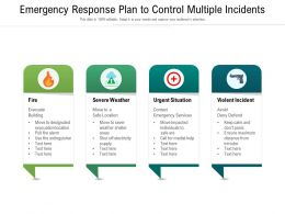 Emergency Response Plan To Control Multiple Incidents