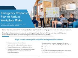 Emergency Response Plan To Reduce Workplace Risks