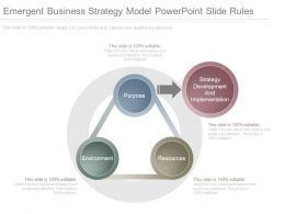 Emergent Business Strategy Model Powerpoint Slide Rules