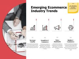 Emerging Ecommerce Industry Trends Growth A581 Ppt Powerpoint Presentation File Slideshow