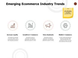Emerging Ecommerce Industry Trends Increase Loyalty Voice Assistants Ppt Powerpoint Presentation Layouts Rules