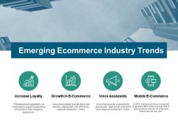 Emerging Ecommerce Industry Trends Ppt Powerpoint Presentation Outline