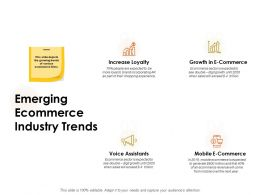 Emerging Ecommerce Industry Trends Ppt Powerpoint Presentation Themes