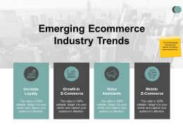 Emerging Ecommerce Industry Trends Voice Assistants Ppt Powerpoint Presentation Icon