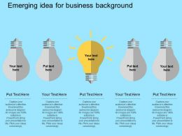 Emerging Idea Generation Concept Bulb Diagram Flat Powerpoint Design