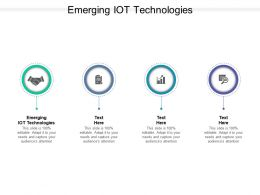 Emerging IOT Technologies Ppt Powerpoint Presentation Slides Gallery Cpb
