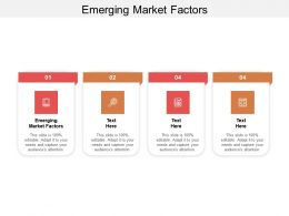 Emerging Market Factors Ppt Powerpoint Presentation Styles Design Inspiration Cpb