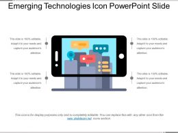 Emerging Technologies Icon Powerpoint Slide
