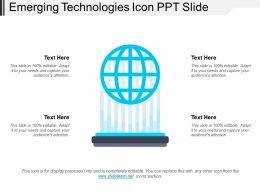 Emerging Technologies Icon Ppt Slide