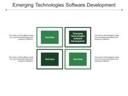 Emerging Technologies Software Development Ppt Powerpoint Presentation Model Portfolio Cpb