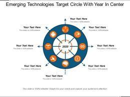 Emerging Technologies Target Circle With Year In Center
