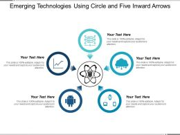 Emerging Technologies Using Circle And Five Inward Arrows