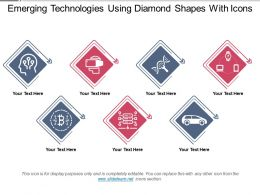 Emerging Technologies Using Diamond Shapes With Icons
