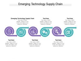 Emerging Technology Supply Chain Ppt Powerpoint Presentation Files Cpb