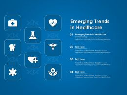 Emerging Trends In Healthcare Ppt Powerpoint Presentation Pictures Inspiration