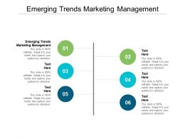 Emerging Trends Marketing Management Ppt Powerpoint Presentation Icon Graphics Download Cpb