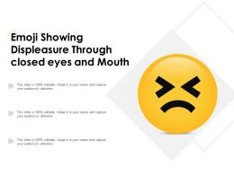Emoji Showing Displeasure Through Closed Eyes And Mouth