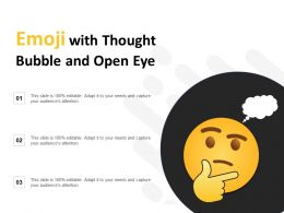 Emoji With Thought Bubble And Open Eye