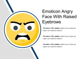 Emoticon Angry Face With Raised Eyebrows