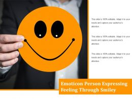 Emoticon Person Expressing Feeling Through Smiley