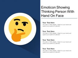 Emoticon Showing Thinking Person With Hand On Face