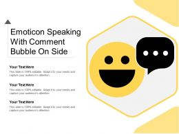 Emoticon Speaking With Comment Bubble On Side