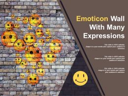 Emoticon Wall With Many Expressions