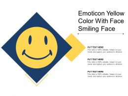 Emoticon Yellow Color With Face Smiling Face