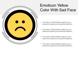 Emoticon Yellow Color With Sad Face