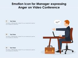 Emotion Icon For Manager Expressing Anger On Video Conference