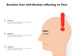 Emotion Icon With Anxiety Reflecting On Face