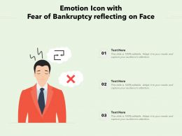 Emotion Icon With Fear Of Bankruptcy Reflecting On Face