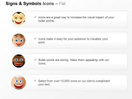 Emotion Representation Smiley Faces Ppt Icons Graphics