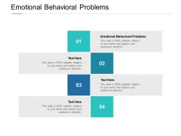 Emotional Behavioral Problems Ppt Powerpoint Presentation Professional Guidelines Cpb