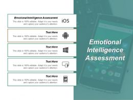 Emotional Intelligence Assessment Ppt Powerpoint Presentation Pictures Clipart Images Cpb
