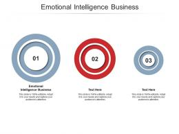Emotional Intelligence Business Ppt Powerpoint Presentation Infographics Graphic Images Cpb