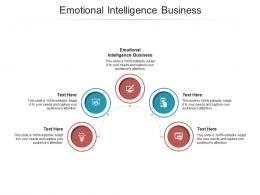 Emotional Intelligence Business Ppt Powerpoint Presentation Layouts Outfit Cpb