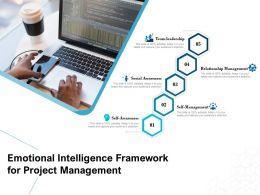 Emotional Intelligence Framework For Project Management