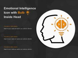 Emotional Intelligence Icon With Bulb Inside Head
