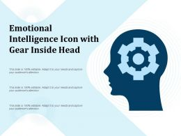 Emotional Intelligence Icon With Gear Inside Head