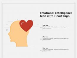 Emotional Intelligence Icon With Heart Sign