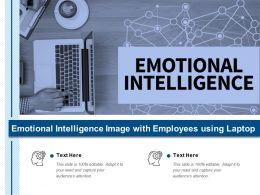 Emotional Intelligence Image With Employees Using Laptop