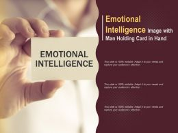 Emotional Intelligence Image With Man Holding Card In Hand