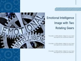 Emotional Intelligence Image With Two Rotating Gears