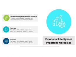 Emotional Intelligence Important Workplace Ppt Powerpoint Presentation Icon Cpb