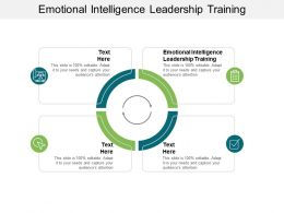 Emotional Intelligence Leadership Training Ppt Powerpoint Clipart Images Cpb