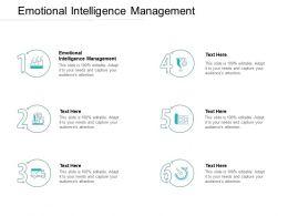 Emotional Intelligence Management Ppt Powerpoint Presentation Slide Cpb