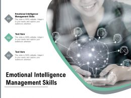 Emotional Intelligence Management Skills Ppt Powerpoint Presentation Slides Examples Cpb